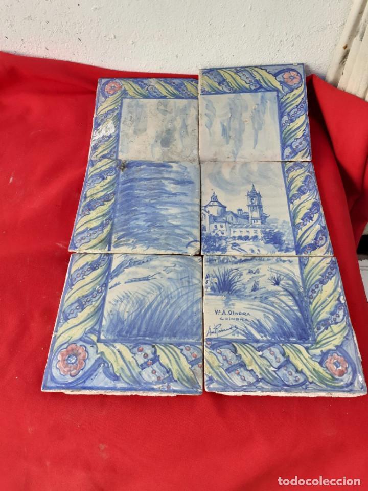 AZULEJOS ANTIGOS DE COIMBRA-PORTUGAL (Antigüedades - Porcelanas y Cerámicas - Azulejos)