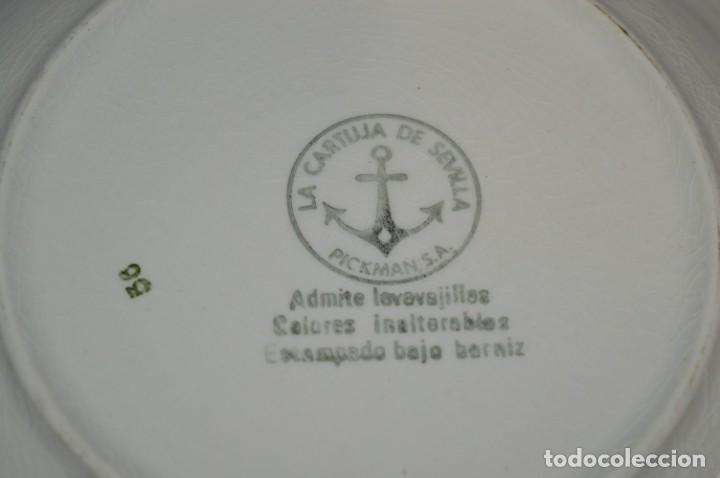 Antigüedades: Antiguos / De LA CARTUJA / PICKMAN SA - SEVILLA - 2 PLATOS HONDOS ¡Mira fotos y detalles! / LOTE 06 - Foto 11 - 230268655