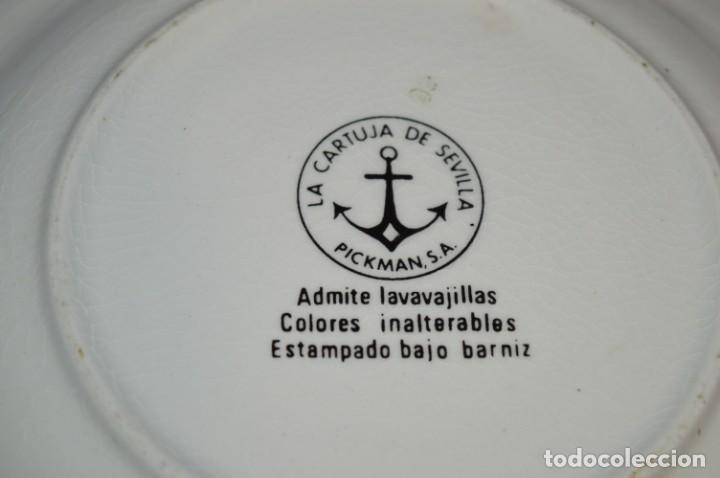 Antigüedades: Antiguos / De LA CARTUJA / PICKMAN SA - SEVILLA - 2 PLATOS HONDOS ¡Mira fotos y detalles! / LOTE 06 - Foto 23 - 230268655