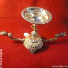 Antigüedades: INCENSARIO PLATA DE LEY S,XIX. Lote 176192230
