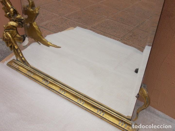 Antigüedades: IMPRESIONANTE ESPEJO DRAGONES DRAC MODERNISTA TALLA MADERA PAN DE ORO ART NOUVEAU - Foto 17 - 230335050