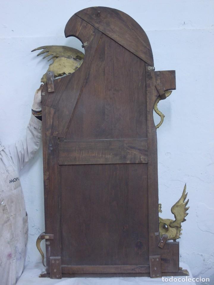 Antigüedades: IMPRESIONANTE ESPEJO DRAGONES DRAC MODERNISTA TALLA MADERA PAN DE ORO ART NOUVEAU - Foto 20 - 230335050