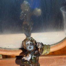 Antigüedades: ANGEL DE CALAMINA SOBRE PEANA. Lote 230336240