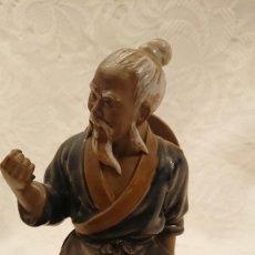 Antigüedades: FIGURA CERÁMICA ARTÍSTICA SHIWAN, HOMBRE DE BARRO. Lote 230459045
