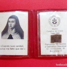 Antigüedades: RELICARIO MADRE CATALINA DE CRISTO. CARMELITA.. Lote 277521508