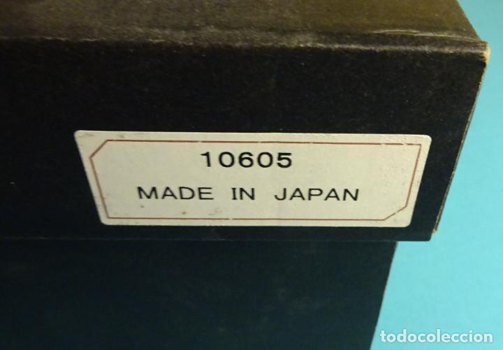 Antigüedades: BOTELLA SAKE Y 4 VASOS DE CERÁMICA CON ESMALTE CRAQUEADO EN SU INTERIOR. FABRICADO EN JAPÓN - Foto 3 - 230508770