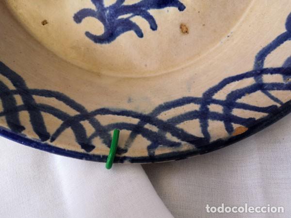 Antigüedades: PLATO - LEBRILLO DE FAJALAUZA GRANADA CON MOTIVO DE PÁJARO AZUL - Foto 3 - 230560360