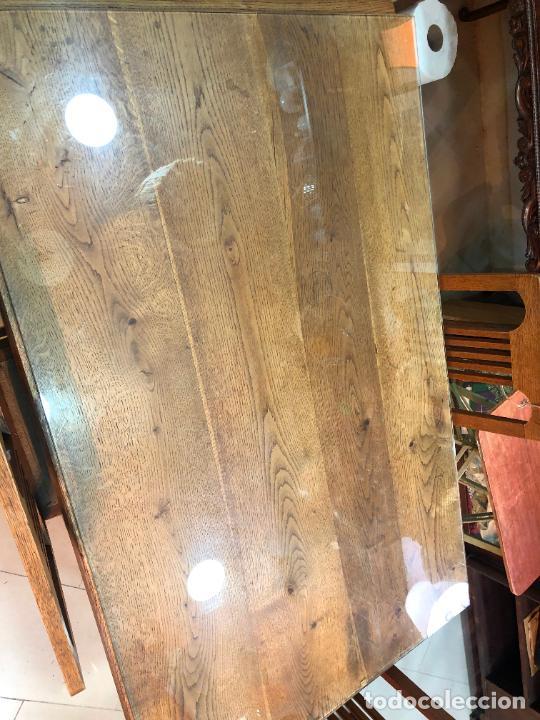Antigüedades: PRECIOSA JUEGO DE MESA ABATIBLE Y SILLAS ART DECO DE ROBLE - MEDIDA 140X88 CM Y ABIERTA 187X88CM - Foto 5 - 230574355