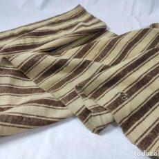Antigüedades: MASERAS, TEJIDO DE LANA DE RAYAS. Lote 230647310