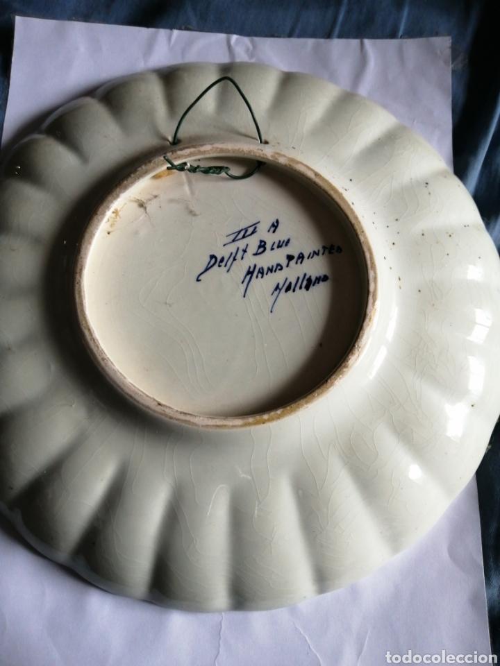 Antigüedades: GRAN PLATO CERÁMICA DELFT PINTADO A MANO firmado y numerado años 50 - Foto 4 - 230665545