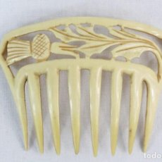 Antiquités: REF P - PEINETA EN CELULOIDE REALIZADA A MANO. CA 1910 11X8.5CM. Lote 230667820
