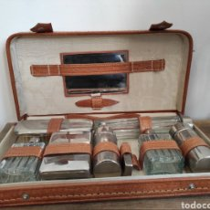 Antiguidades: ANTIGUO NECESER DE VIAJE. AÑOS 50. COMPLETO.. Lote 230707230