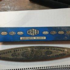 Antiquités: PIEDRA AFILADO RALO,, EL SEGADOR, CORIDON BLANCO. Lote 230733210
