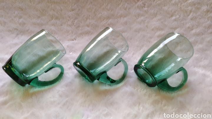 Antigüedades: Jarras de Vidrio Soplado Verde. NUEVAS SIN USAR. - Foto 2 - 230783345