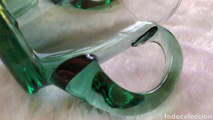 Antigüedades: Jarras de Vidrio Soplado Verde. NUEVAS SIN USAR. - Foto 3 - 230783345