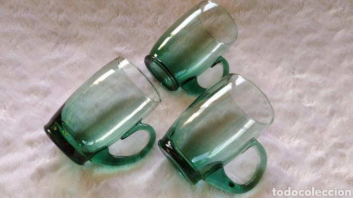 Antigüedades: Jarras de Vidrio Soplado Verde. NUEVAS SIN USAR. - Foto 4 - 230783345
