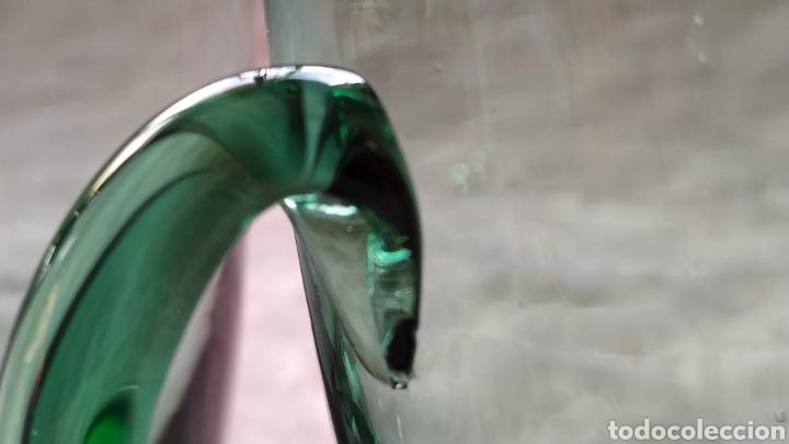 Antigüedades: Jarras de Vidrio Soplado Verde. NUEVAS SIN USAR. - Foto 5 - 230783345