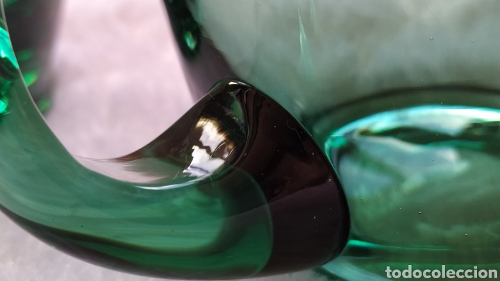 Antigüedades: Jarras de Vidrio Soplado Verde. NUEVAS SIN USAR. - Foto 6 - 230783345