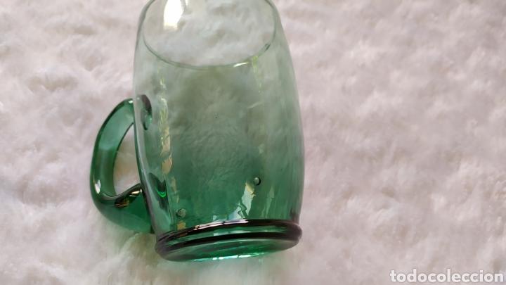 Antigüedades: Jarras de Vidrio Soplado Verde. NUEVAS SIN USAR. - Foto 9 - 230783345