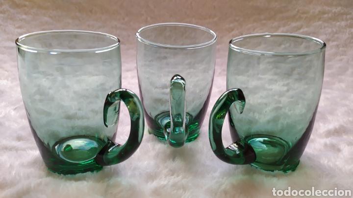 Antigüedades: Jarras de Vidrio Soplado Verde. NUEVAS SIN USAR. - Foto 10 - 230783345