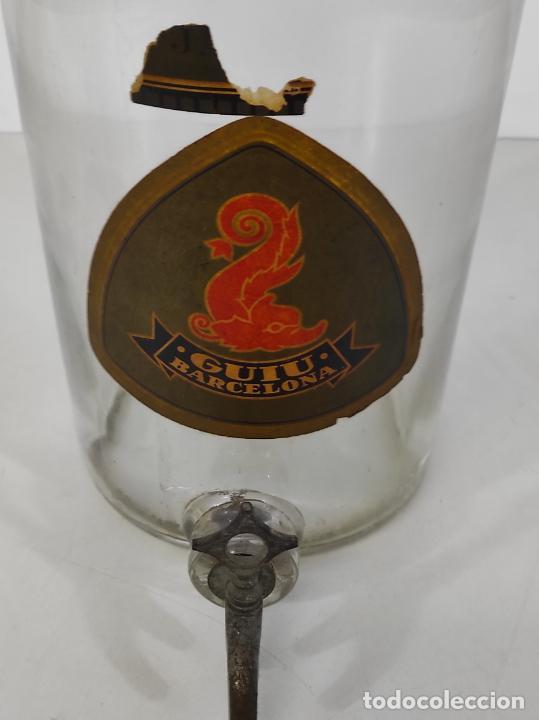 Antigüedades: Gran Botella de Perfume a Granel - Frasco con Grifo - Colonia Guiu, Barcelona - Años 20 - Foto 4 - 230814400