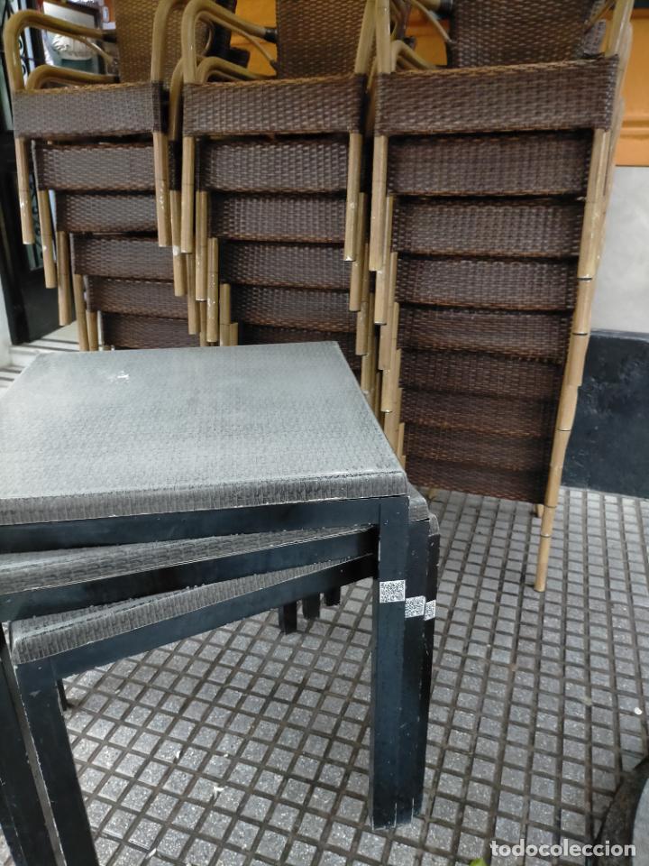Antigüedades: SOLO RECOGIDA CADIZ CAPITAL CENTRO 24 sillas y 6 mesas de terraza BAR RESTAURANTE - Foto 33 - 229701075