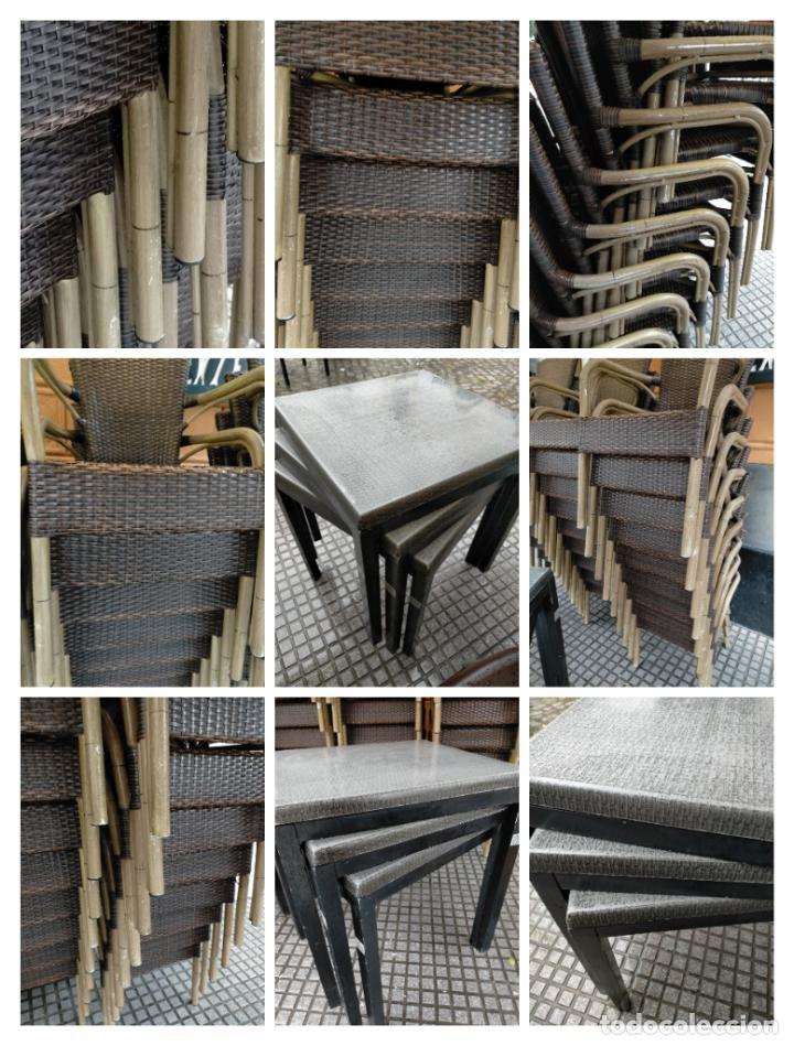 Antigüedades: SOLO RECOGIDA CADIZ CAPITAL CENTRO 24 sillas y 6 mesas de terraza BAR RESTAURANTE - Foto 10 - 229701075
