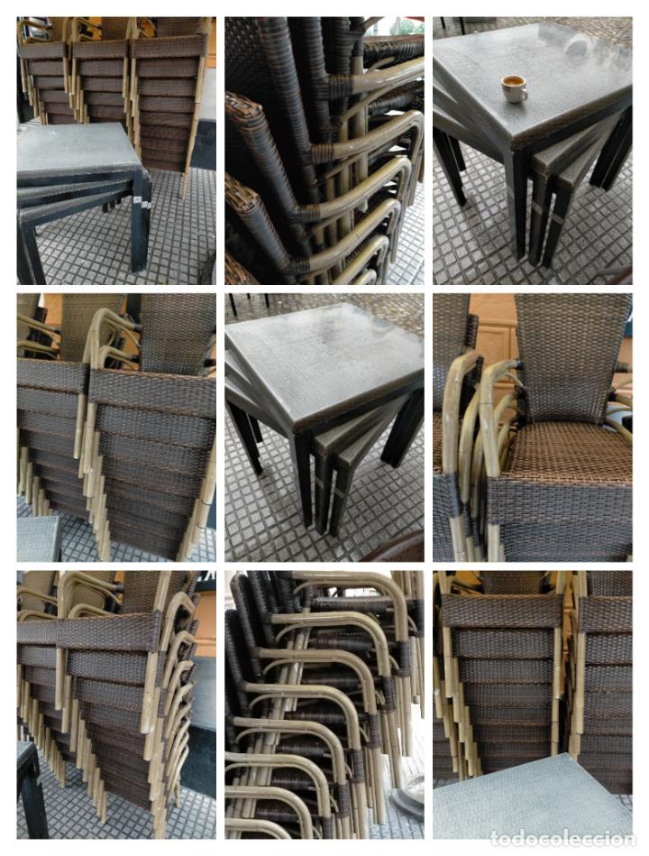 Antigüedades: SOLO RECOGIDA CADIZ CAPITAL CENTRO 24 sillas y 6 mesas de terraza BAR RESTAURANTE - Foto 2 - 229701075