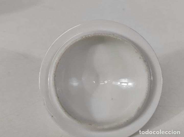 Antigüedades: Preciosa Pequeña Sopera Isabelina - Porcelana Dorada - con Plato - S. XIX - Foto 22 - 230831275
