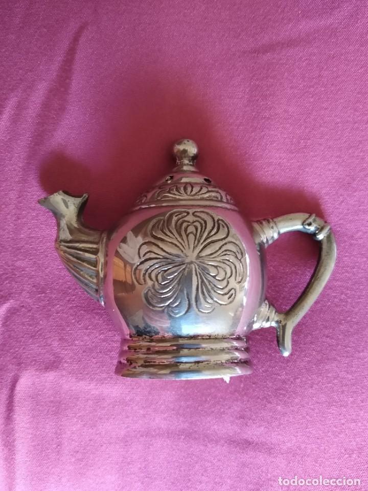 Antigüedades: Preciosa tetera Godinger con relieves baño de plata - Foto 7 - 230873780