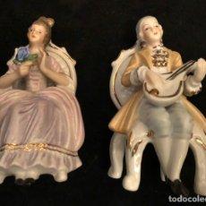 Antigüedades: PAREJA FIGURAS PORCELANA.. Lote 230892065
