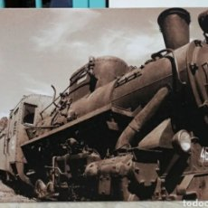 Antigüedades: CUADRO-FOTO SEPIA CON IMAGEN DE TREN-FERROCARRIL TIPO VINTAGE-ANTIGUA.. Lote 230928590