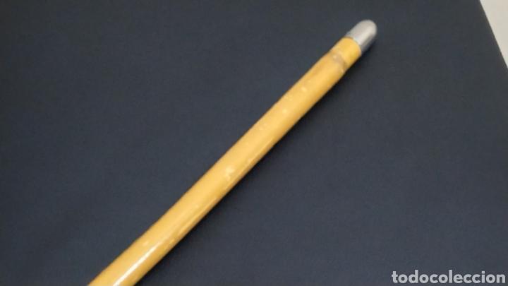 Antigüedades: Bastón/Garrote/Vara/Garrota curva de caña de Bambú. - Foto 5 - 230945355