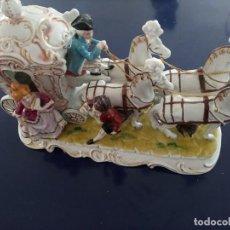 Antigüedades: CARROZA DE PORCELANA JAPONESA. Lote 230950670