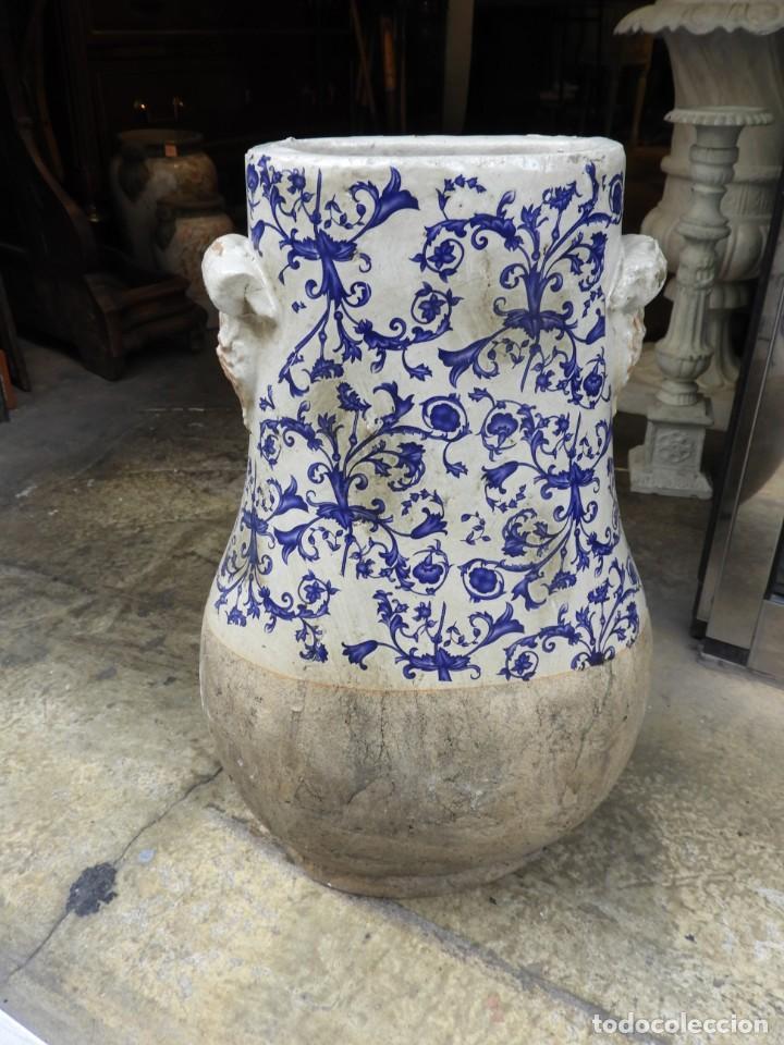 Antigüedades: JARRON DE FLORES ARABE PARAGUERO BASTONERO - Foto 3 - 230957900