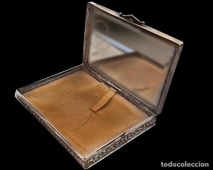 Antigüedades: Antigua caja de plata, preciosa.Marcas, Principios del siglo XX - Foto 5 - 230964795