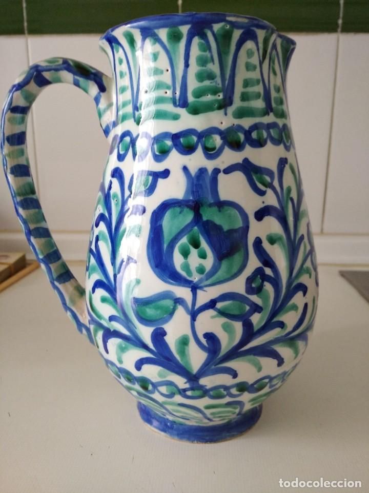 Antigüedades: Fajalauza, espectacular jarra, cerámica vidriada pintada a mano 23 cm de alta - Foto 2 - 230998625