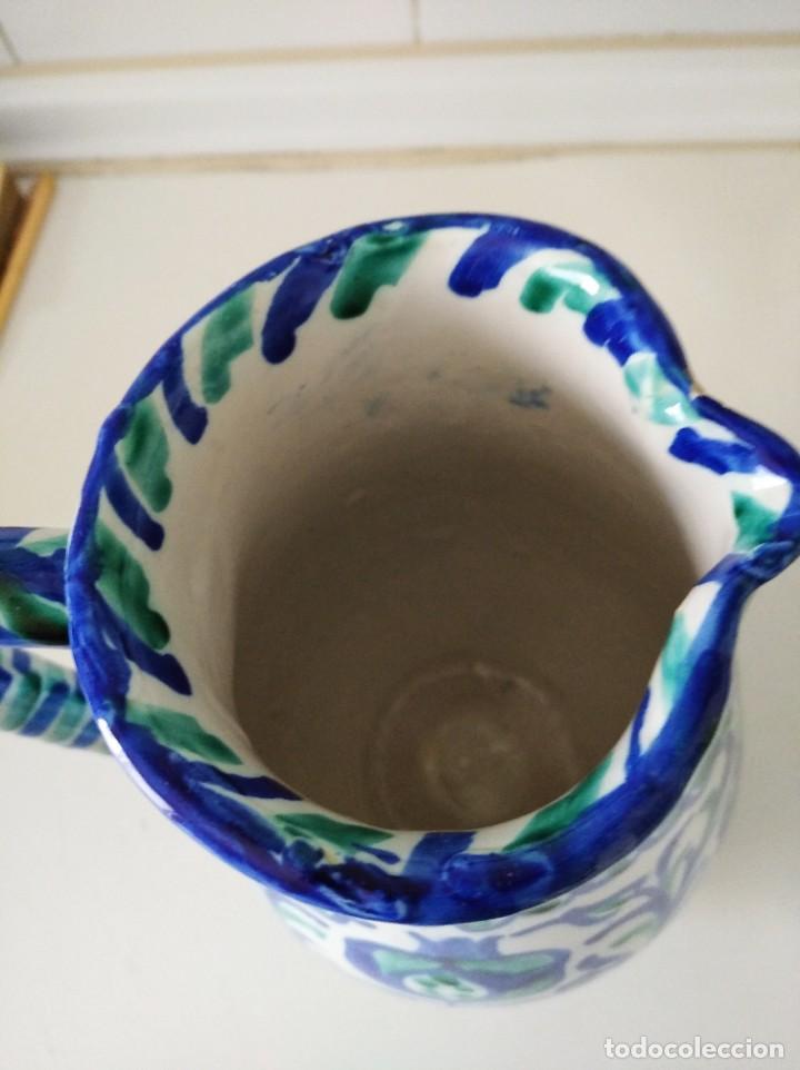 Antigüedades: Fajalauza, espectacular jarra, cerámica vidriada pintada a mano 23 cm de alta - Foto 3 - 230998625