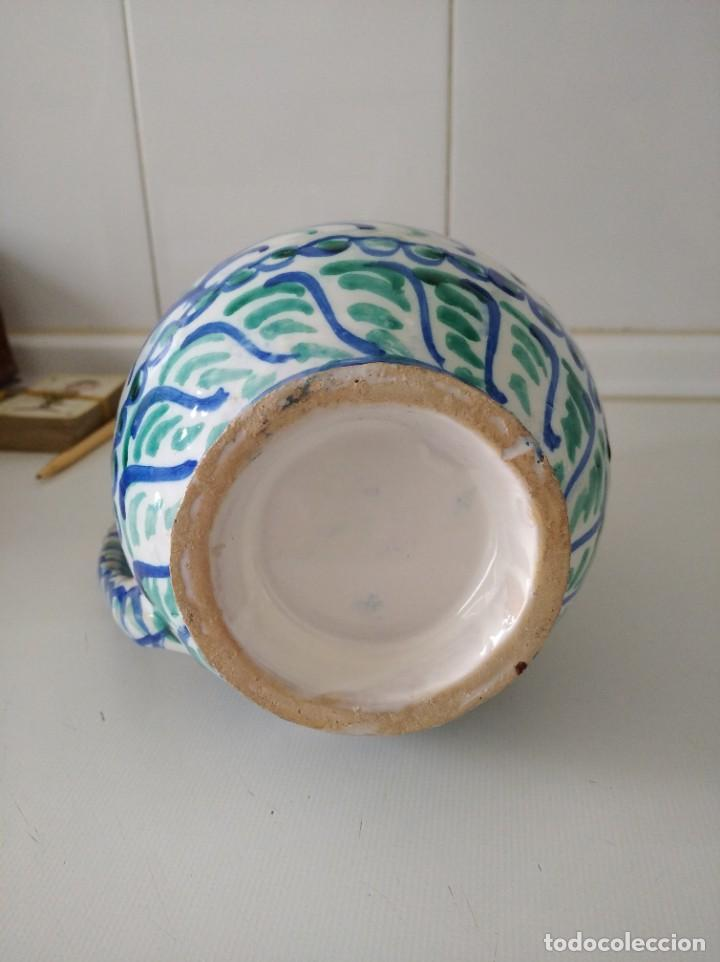 Antigüedades: Fajalauza, espectacular jarra, cerámica vidriada pintada a mano 23 cm de alta - Foto 4 - 230998625