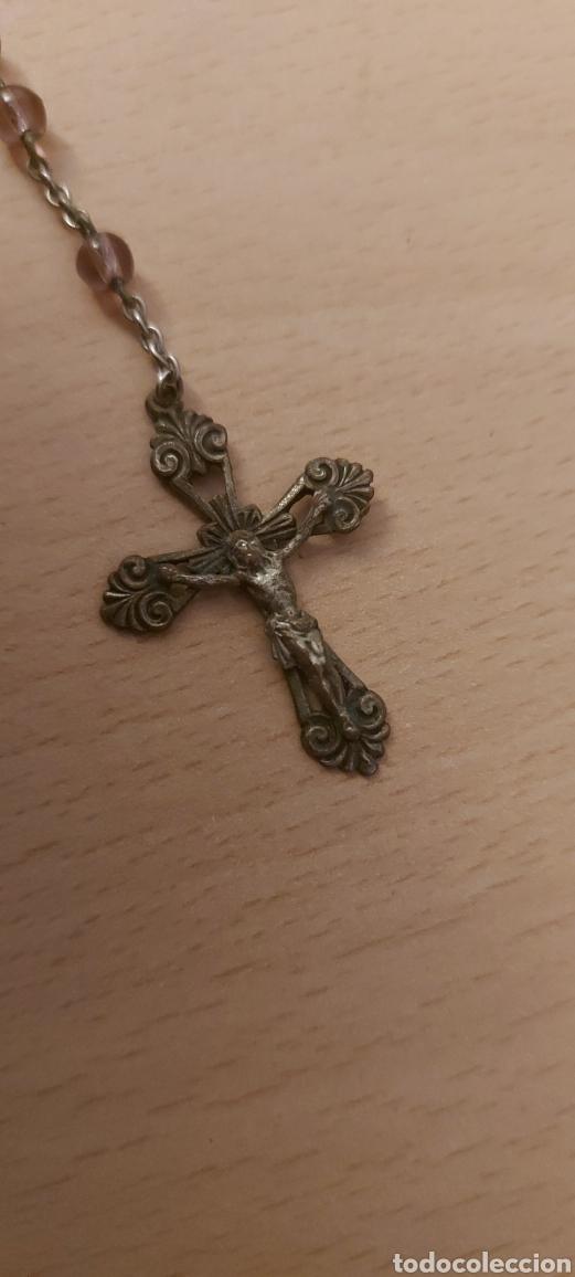 Antigüedades: Rosario antiguo de Fatima con medallas - Foto 2 - 231066995