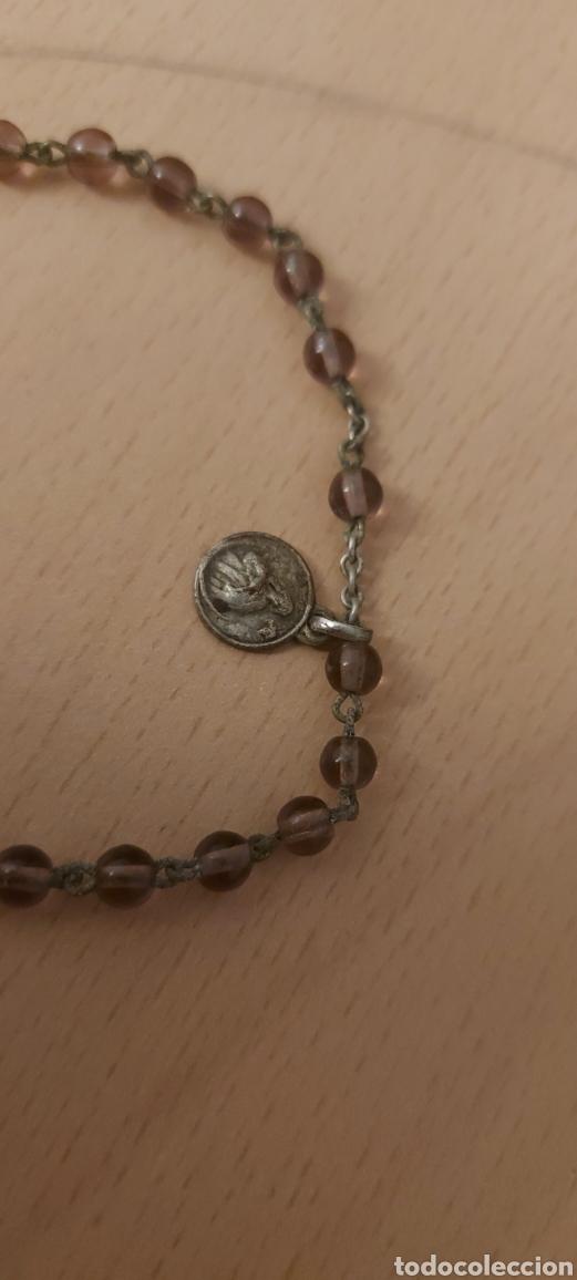 Antigüedades: Rosario antiguo de Fatima con medallas - Foto 7 - 231066995