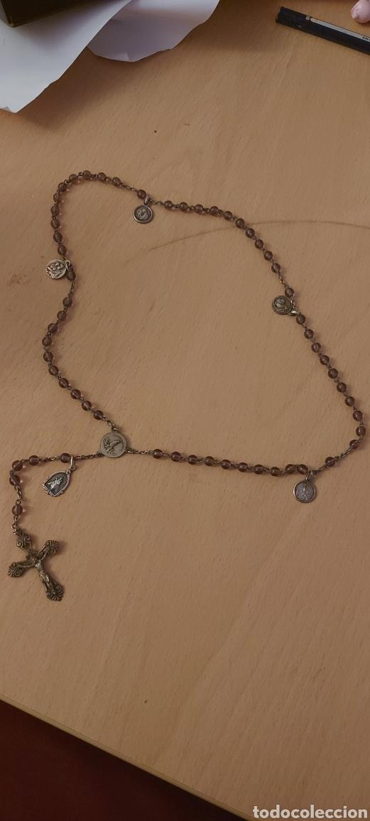 Antigüedades: Rosario antiguo de Fatima con medallas - Foto 10 - 231066995