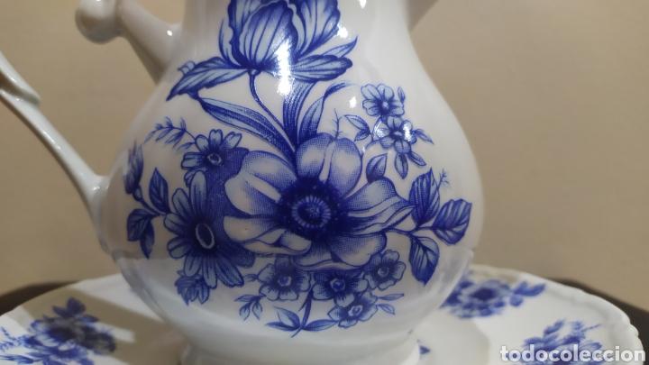 Antigüedades: Aguamanil/Jarra con Plato de Porcelana/Cerámica MULDER-HOLLAND (sello identificativo). - Foto 2 - 231089610