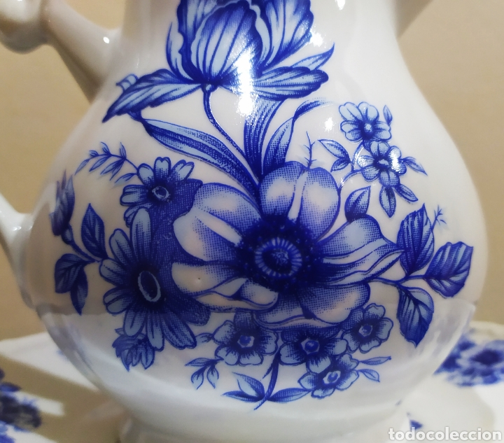 Antigüedades: Aguamanil/Jarra con Plato de Porcelana/Cerámica MULDER-HOLLAND (sello identificativo). - Foto 3 - 231089610