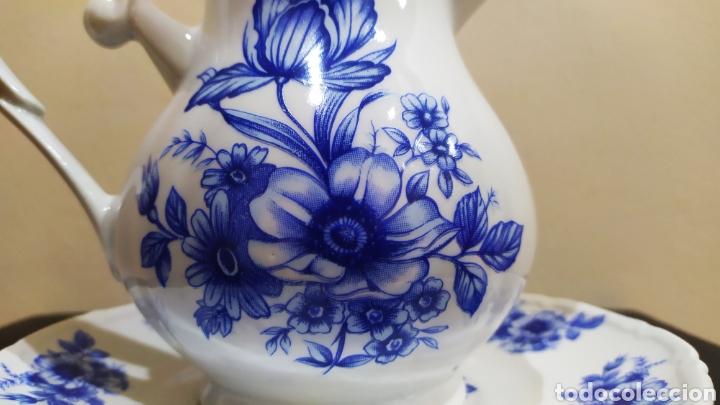 Antigüedades: Aguamanil/Jarra con Plato de Porcelana/Cerámica MULDER-HOLLAND (sello identificativo). - Foto 4 - 231089610