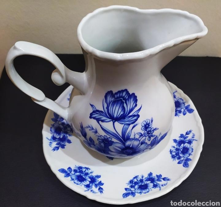Antigüedades: Aguamanil/Jarra con Plato de Porcelana/Cerámica MULDER-HOLLAND (sello identificativo). - Foto 5 - 231089610