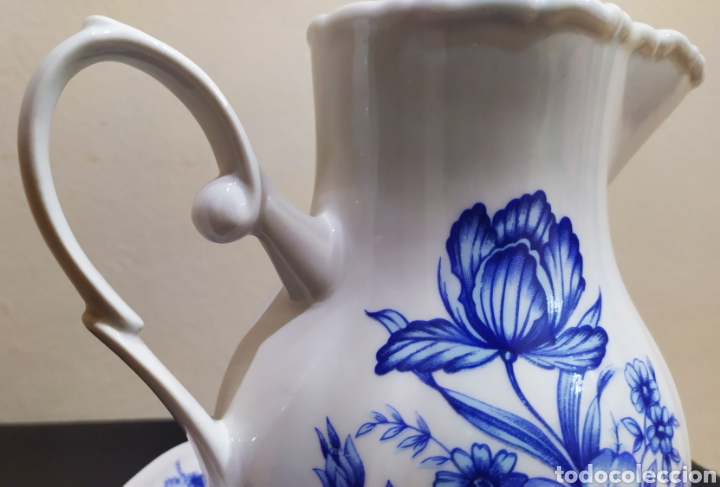 Antigüedades: Aguamanil/Jarra con Plato de Porcelana/Cerámica MULDER-HOLLAND (sello identificativo). - Foto 6 - 231089610