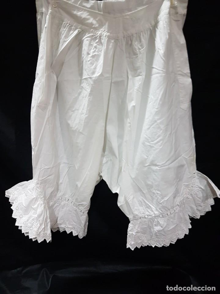ANTIGUOS Y ELABORADOS POLOLOS ALGODON FF.SGXIX.1880-1900 BLANCO (Antigüedades - Moda y Complementos - Mujer)