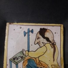 Oggetti Antichi: AZULEJO CATALAN DE ARTES Y OFICIOS GROTESCO. Lote 231124375
