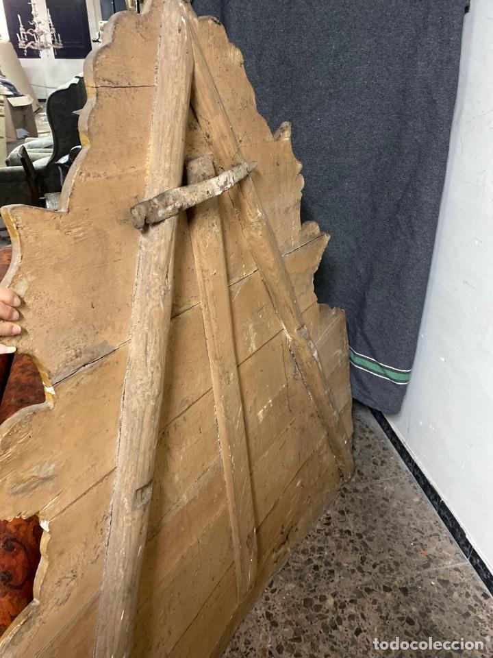 Antigüedades: *CAMA DE OLOT DE MADERA POLICROMADA. S.XVIII. CON CABEZAL, TRAVESAÑOS, Y TORNILLOS. - Foto 8 - 231154765
